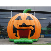 inflatable halloween pumkin bouncer For Kid and adult,Inflatable Moonwalk Jumper ,inflatable air castle with free air blower