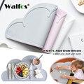 Walfos 100% Пищевая силиконовая подставка  термостойкий Коврик для ребенка  термостойкий силиконовый Настольный коврик  коврик для столовой
