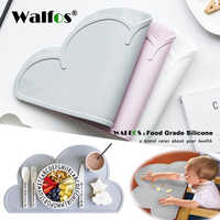 Walfos 100% food grade Silicone Placemat baby kid Heat Resistant Mat heat resistant silicone table mat place mat dinning