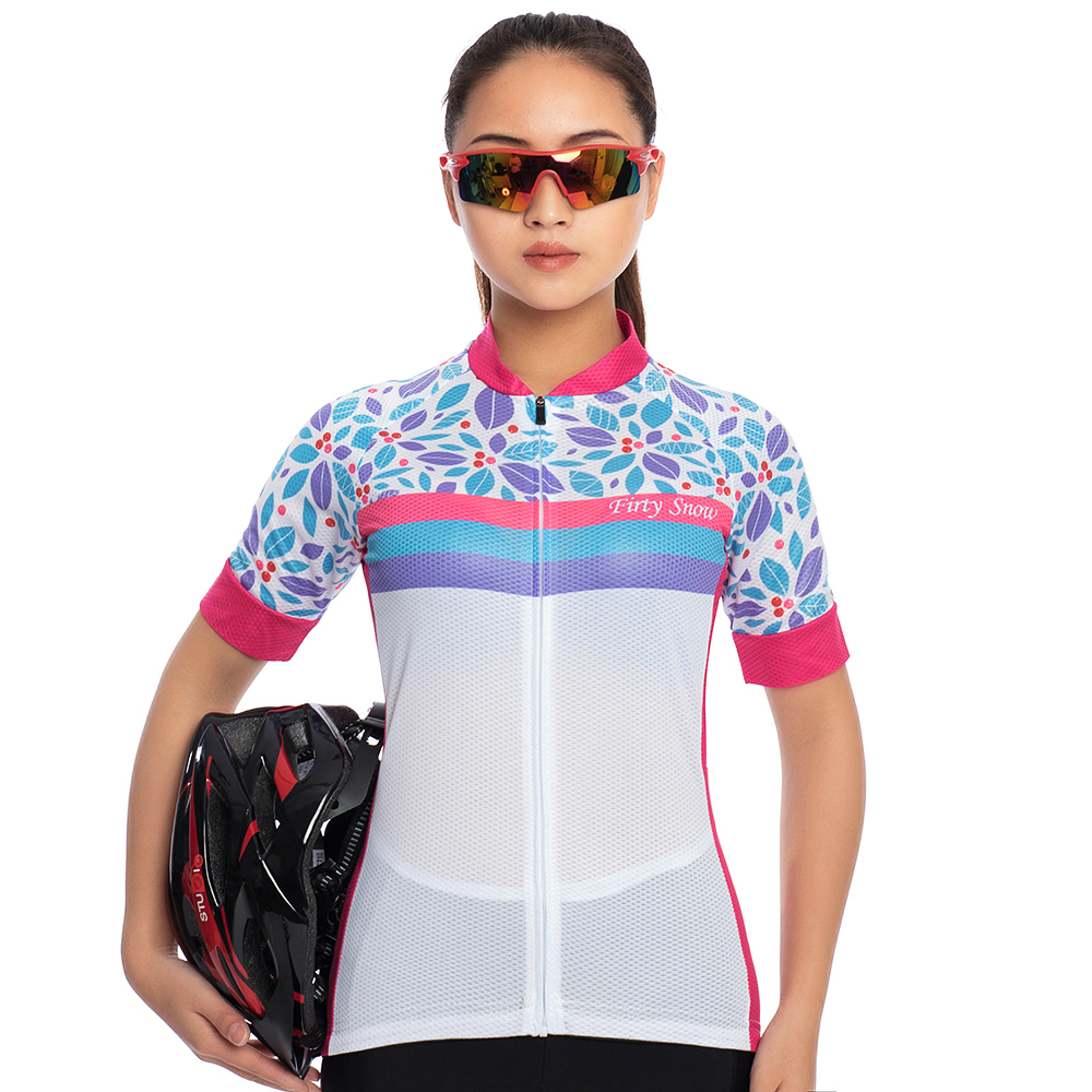 First snow women short-sleeved bib strap bicycle cycling Jersey summer Pro outdoor equipment Mountain Road full suits clothing