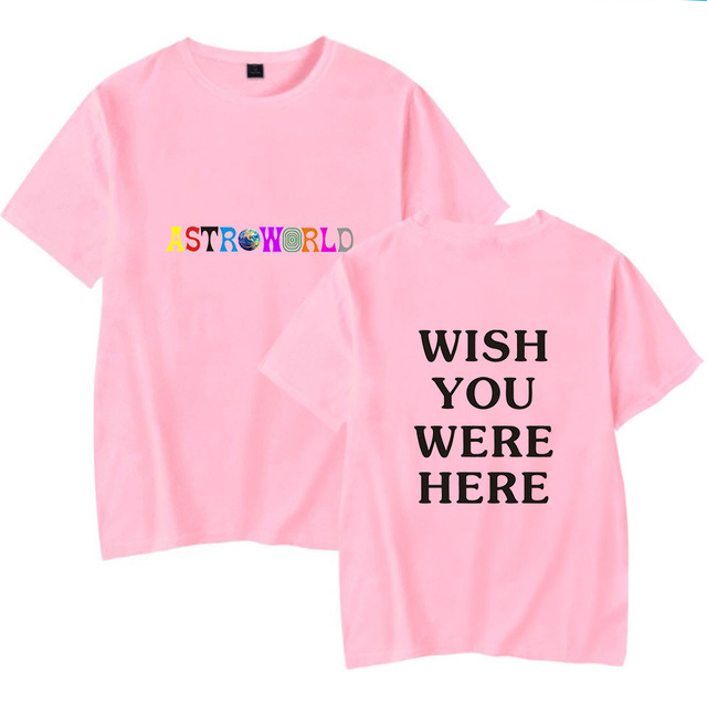 Fashion Hip Hop Casual T Shirt Men Women Travis Scotts ASTROWORLD Harajuku T Shirts WISH YOU WERE HERE Letter Print Tees Tops in T Shirts from Men 39 s Clothing