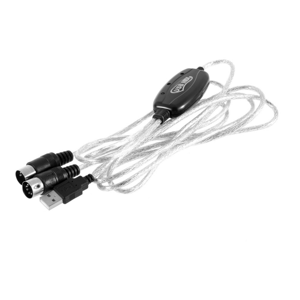 все цены на USB IN-OUT MIDI Interface Cable Converter PC to Music Keyboard Cord Wholesale онлайн