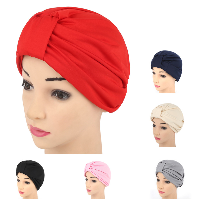 Women New Elastic Cap Turban Muslim Cancer Chemo Hat Beanie Scarf Turban Head Wrap Cap Headwear