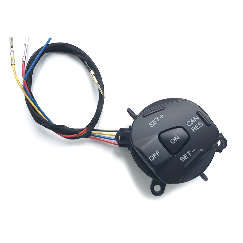 blue led multifunction steering wheel button cruise control switch and cable for Ford Fiesta MK7 MK8