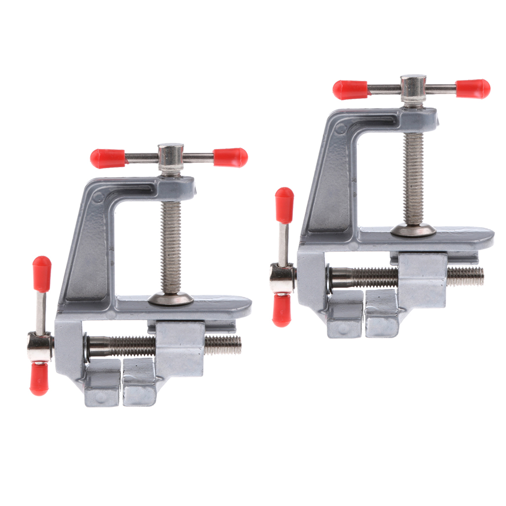 2pcs Mini Table Bench Vise Swivel Lock Clamp Craft Jewelers Hobby Repair Tool for Soldering Garage Hobbies hot sale 35mm aluminum miniature small jewelers hobby clamp on table bench vise tool vice free shipping