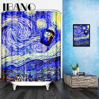 Customized Scenery Shower Curtain Waterproof Bathroom Fabric 165x180cm 3D Shower Curtains For Bathroom