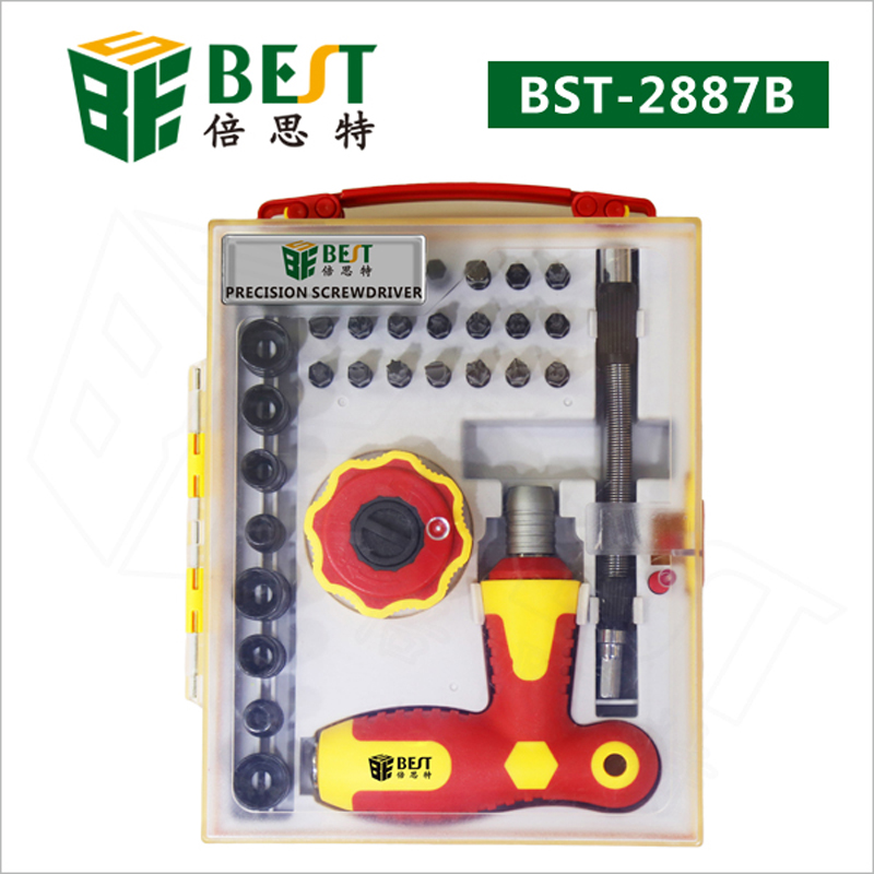 BST-2887B Screwdriver 34 in 1 Multifunctional Screwdriver Set for Computer Disassemble Repair Tools Kit Multitool Screwdrivers стоимость