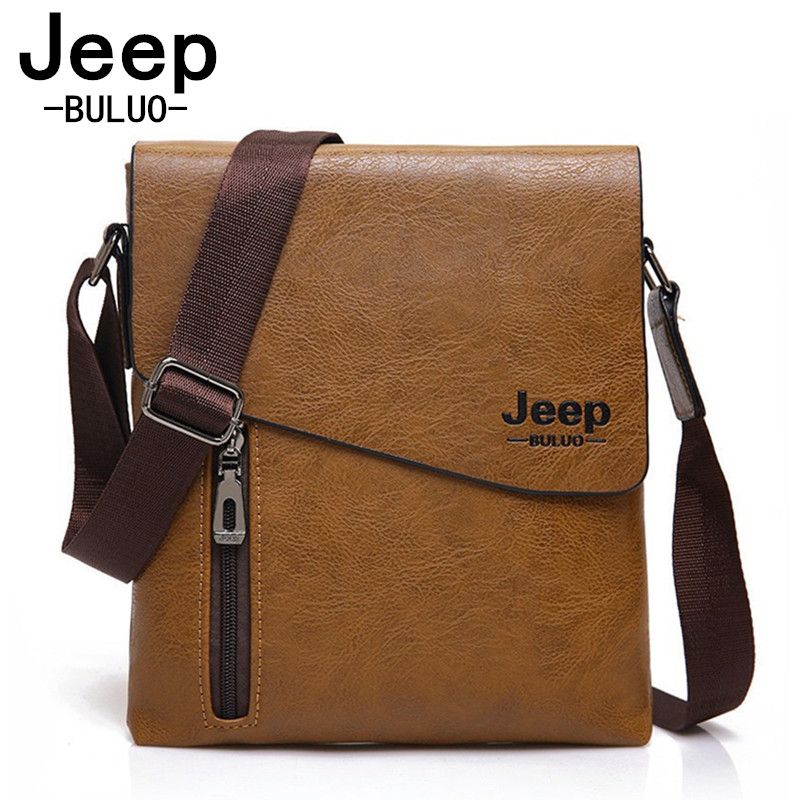 JEEP BULUO Men's Crossbody Bags Quality Male Shoulder Messenger Bag PU Leather Men Handbag Travel Fashion Business Work Bag 1502 uiyi fashion pu leather handbag men casual messenger shoulder bag crossbody business sling satchel male tote bags 160077