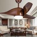 Скандинавский ретро стиль коричневый цвет высокое качество потолочный вентилятор с люстрой LED лампа дистанционное управление для спальни  dc 110 В 220 В люстра потолочный вентилятор для дома