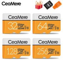 CeaMere Micro SD Card 256GB/128GB/64GB UHS-3 32GB/16GB/8GB Class 10 UHS-1 4GB Memory Card Flash Memory Microsd Free Crad Reader adata 16gb class 10 micro sdhc card w card reader black grey