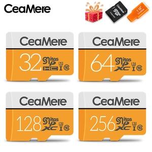 Image 1 - CeaMere مايكرو SD بطاقة 256GB/128GB/64GB UHS 3 32GB/16GB/8GB فئة 10 UHS 1 4GB بطاقة الذاكرة ذاكرة فلاش Microsd قارئ Crad الحرة