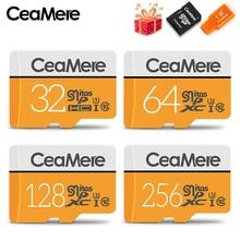 CeaMere carte Micro SD, 32/256 go/128 go/UHS 3 go/UHS 1 go/go, classe 10, mémoire Flash, lecteur ad hoc