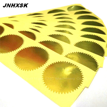 Stamp Sticker Gold Gear Sticker 45mm 20 Sheets 100 Pcs Stamped Gear Stickers Sealed Stamp Stickers Certificate Gear Labels
