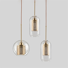 Lamp Glass Bulb Pendant Light Master Bedroom Luminaria De Teto Pendente Vintage Art Deco Industrial Nordic Loft