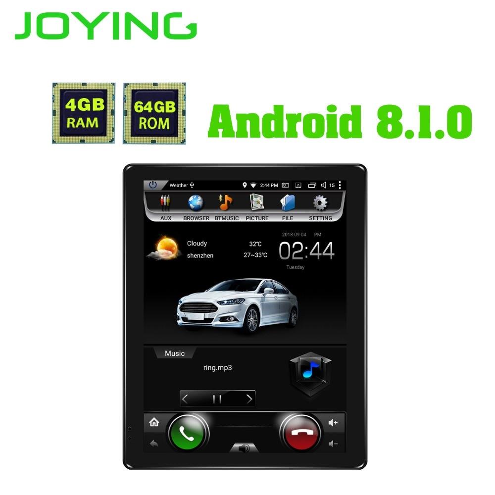 JOYING 9.7 inch HD IPS Screen 4gb+64gb Octa Core Android 8.1 Car Multimedia Player Single 1 din Car Radio Stereo GPS Head Unit