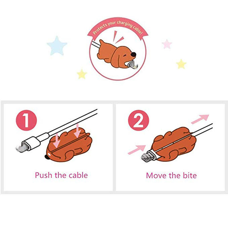 1 pcs Animal Cable bites Protector for Iphone protege cable buddies cartoon Cable bites kabel diertjes Phone holder Accessory 4