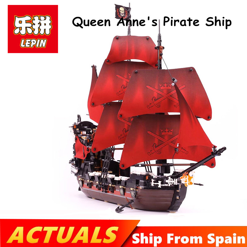 Ship from Spain Lepin pirates of the caribbean 16009 Queen Anne's revenge Pirates Legoing 4195 model building kits blocks boys экшн камера sony hdr as50