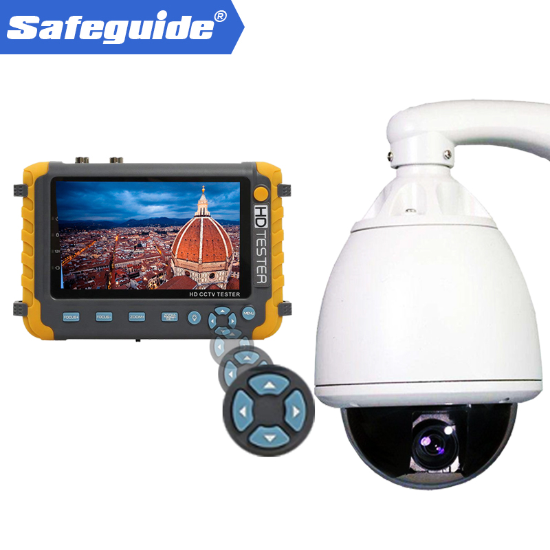 IV8W 5MP 4 in 1 TVI AHD CVI CVBS 5inch CCTV Security Camera Tester Support PTZ