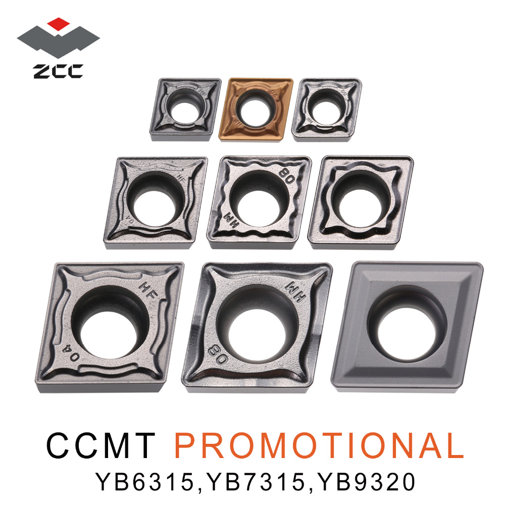 10pcs/lot promotional carbide turning inserts CCMT060204 CCMT09T304 CCMT <font><b>120404</b></font> 08 for steel cast iron CNC lathe tools image