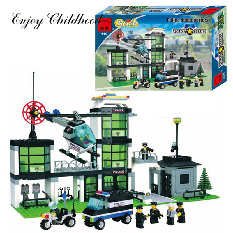 City Police Station Building Blocks 3D Model Building Blocks 466PCs Playmobil Blocks Bri ...