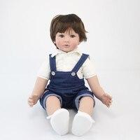 60 см Силиконовая виниловая кукла младенец, мальчик игрушки 24 дюйма дешевые куклы для малышей ребенок подарок на день рождения девочки игров