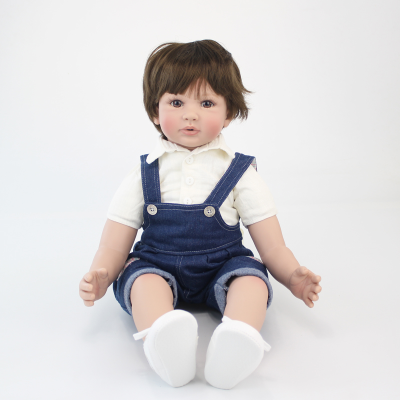 60cm Silicone Vinyl Reborn Baby Boy Doll Toys 24inch Cheap Toddler Babies Doll Kid Birthday Gift Present Girls Play House Boneca60cm Silicone Vinyl Reborn Baby Boy Doll Toys 24inch Cheap Toddler Babies Doll Kid Birthday Gift Present Girls Play House Boneca