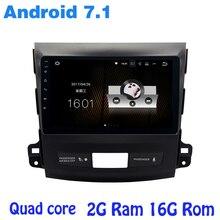 "9 ""Quad core Android 7.1 gps radia samochodowego do Mitsubishi outlander z 2G RAM wifi 4G RDS USB audio stereo lustro link sat"