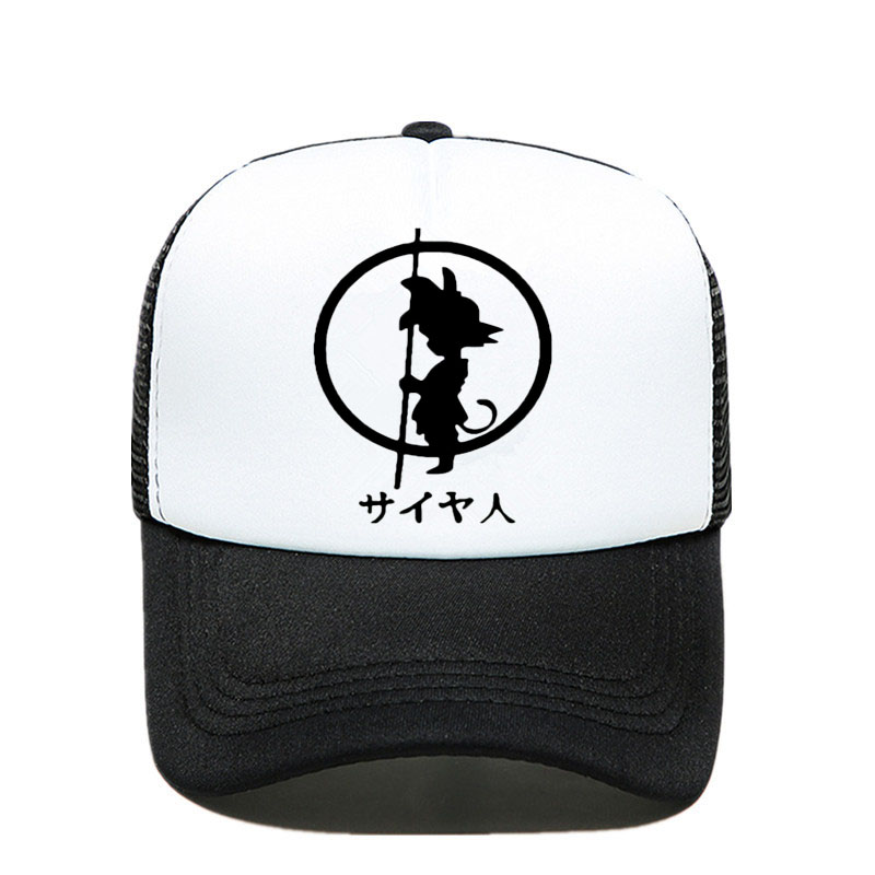 New Dragon Ball z goku   Baseball     cap   Men Fashion Men's Casual summer Mesh   cap   Letter print cartoon trucker   cap