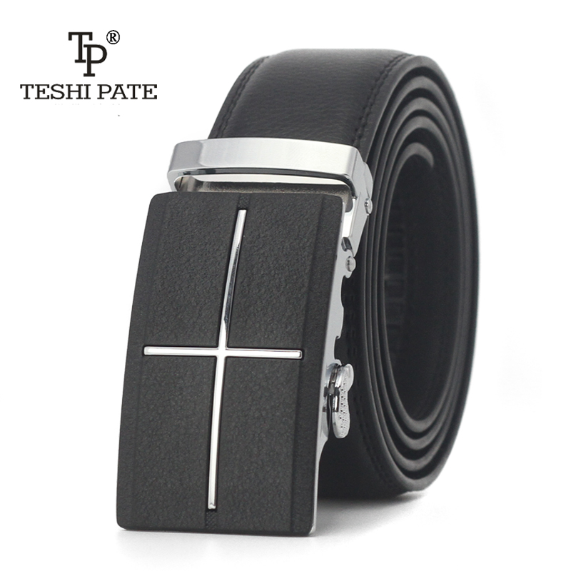 TESHI PATE TP Top cowhide hot style Italy imported real leather man belt leisure youth Frosted leather 2018 NEW
