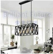 European classical iron 4 head box black bedroom lamp chandelier Mediterranean Restaurant garden Chandelier 110-240v