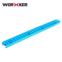 WORKER 27.9CM Transparent Blue Nylon Grooved Top Rail Mount Kit with Track for Nerf Toy Gun Joint Parts Modification Supplies