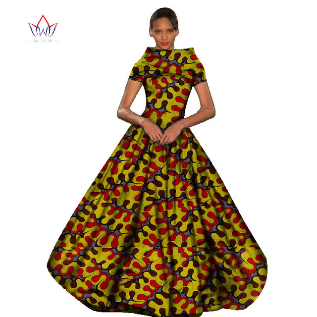 3637cb09c1b86 Summer dress traditional maxi dress African print Dashiki for women femme  vestidos Bazin Riche dress plus size natural BRW WY462