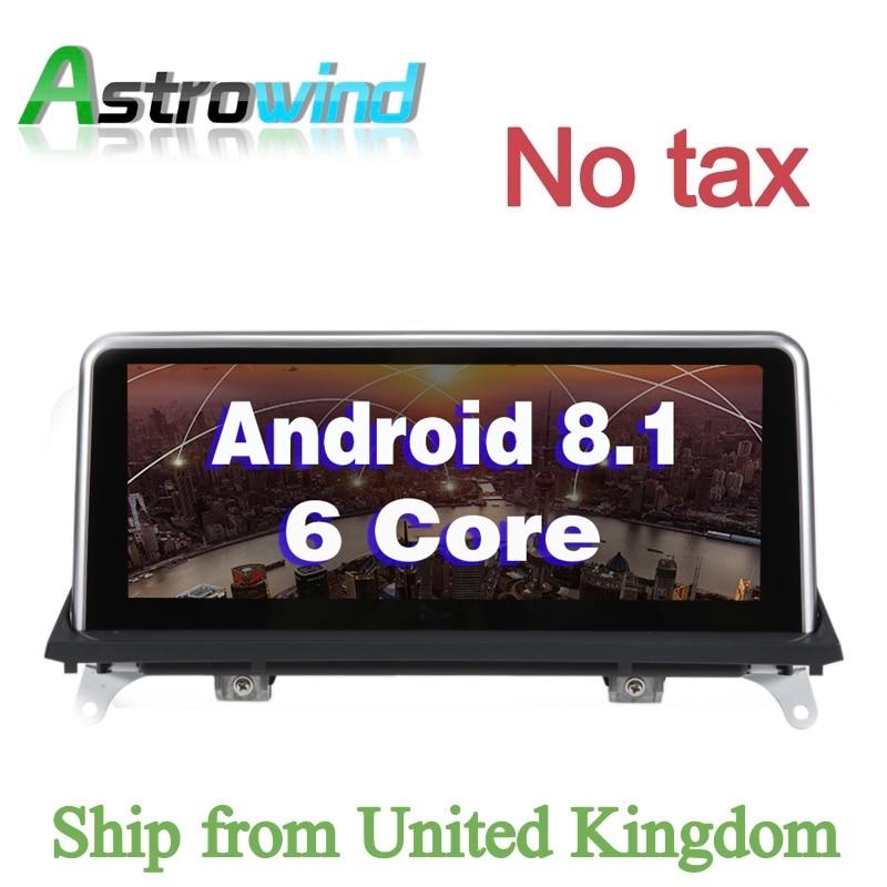 10.25 pouces 2G RAM 32G ROM Android 8.1 Système Voiture navigation gps Médias Stéréo Radio Pour BMW X5 E70 x6 E71 2011-2014 CIC Système