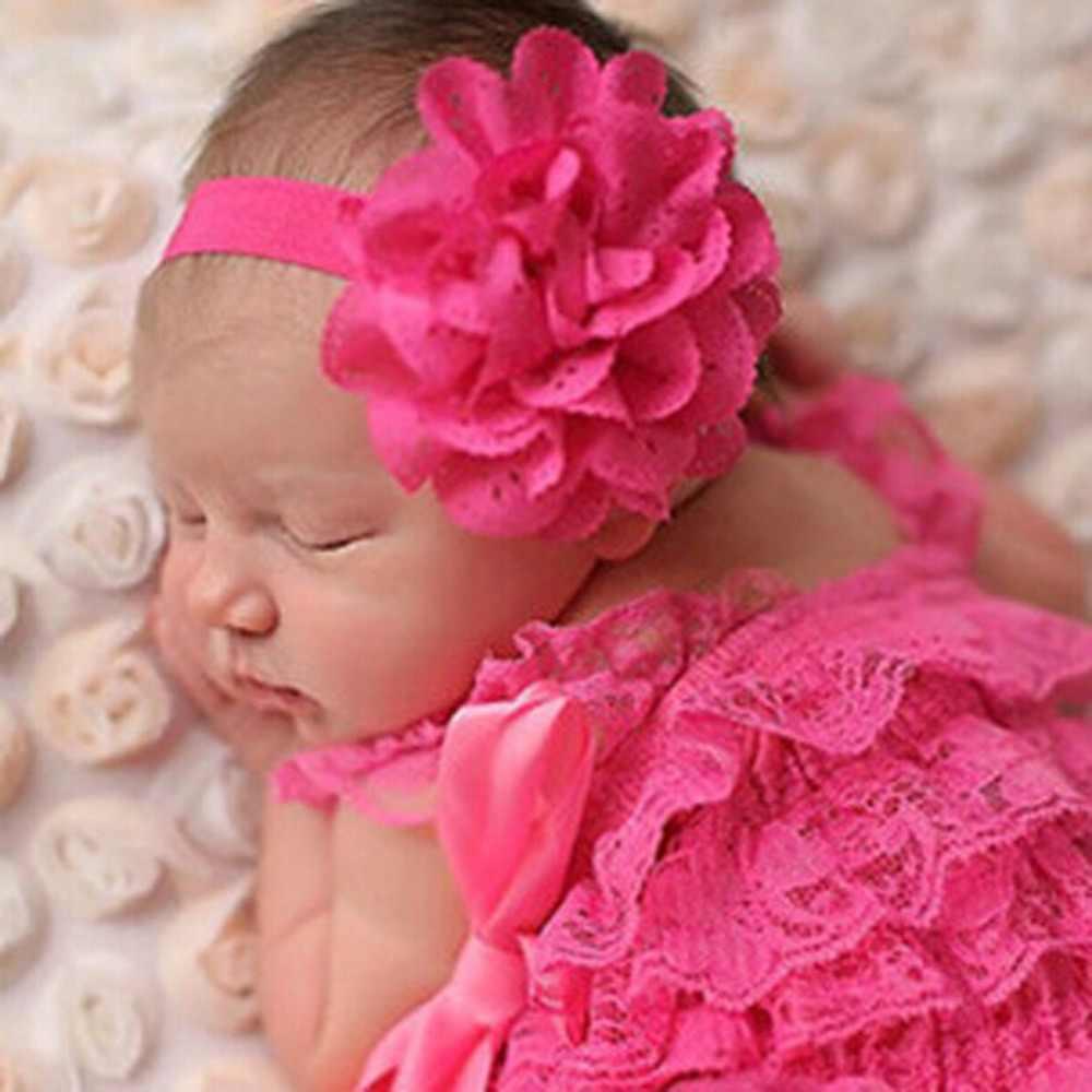 ใหม่อุปกรณ์ผมเด็กวงผมที่ยืดหยุ่นH Eadwearสาวดอกไม้โบว์กลวงออกดอกไม้คาดศีรษะ