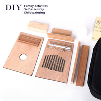 10 Key DIY Set Painting Kalimba Set Mbira African Thumb Finger Piano for beginners music lovers and children With Piano Bag