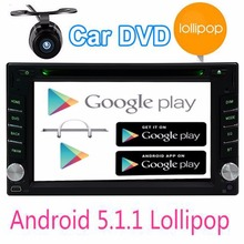 Android 5.1.1 2 Din Car Radio Stereo GPS Navigation 2 din Car audio GPS Navigation DVD CD Player+USB+3G+steering wheel+camera