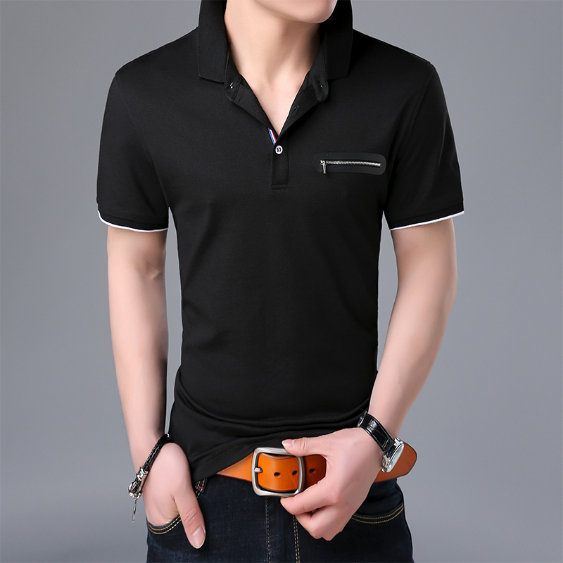 2019 New Fashion Brands Summer   Polo   Shirts Men Top Grade Slim Fit Short Sleeve British Style Cotton   Polos   Casual Men Clothing
