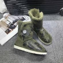Gxlld Обувь- Лидер продаж женские Сапоги и ботинки Leopard Slip-On мягкие изящные женские зимние ботинки круглый носок; плоская подошва На зимнем меху ботинки до середины икры