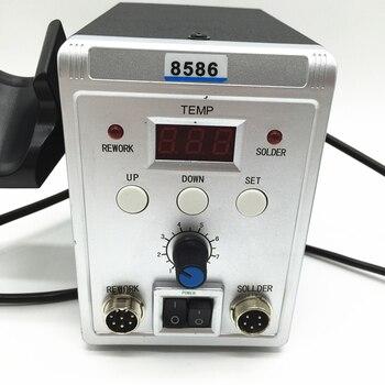 220 V/110 V 700W הלחמה תחנת 8586 2 ב 1 SMD עיבוד חוזר תחנת אוויר חם אקדח + חשמלי הלחמה ברזל לריתוך תיקון ערכת כלים