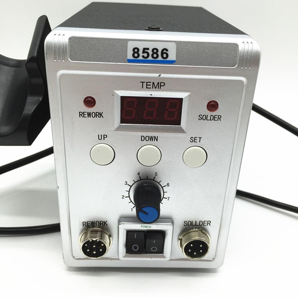 220 V/110 V 700W Station de soudure 8586 2 en 1 SMD Station de reprise pistolet à Air chaud + fer à souder électrique pour le soudage kit d'outils de réparation - 3