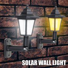 Lámpara de pared LED Solar Vintage impermeable jardín exterior paisaje Hexagonal luz Villa/Parque/Patio luz Led proyector