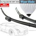 Frameless Janela do carro Limpador Lâmina Para Hyundai I30 2007-2010 2 Pcs Veículo Borracha Macia Pára Wiper Blades