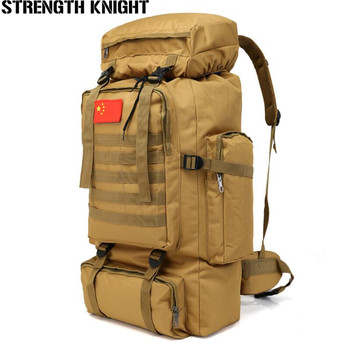 70L Large Capacity Backpack Waterproof Nylon Military Tactics Molle Army Bag Men Rucksack for Hike Travel Backpacks
