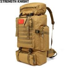 70L ขนาดใหญ่ความจุกระเป๋าเป้สะพายหลังกันน้ำไนลอนทหารยุทธวิธี MOLLE Army Bag กระเป๋าเป้สะพายหลัง Rucksack สำหรับ Hike Travel กระเป๋าเป้สะพายหลัง