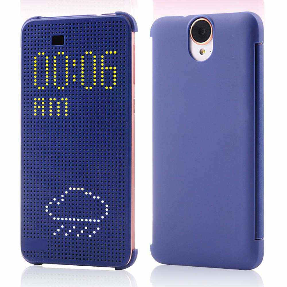 E9 หนังแท้ซิลิโคนสำหรับ HTC ONE E9 Slim Dot Smart Auto Sleep Wake View เปลือกหอยกระเป๋า