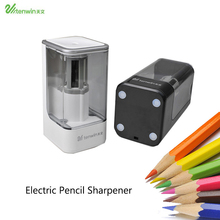 TENWIN Electric Pencil Sharpener High Quality Automatic Electronic And One Hole Plug In Use Safety For Kids 8006 tenwin 8006 new high quality automatic and electric pencil sharpener one hole plug in use safety for kids
