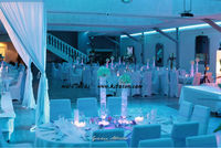 5 pz DHL AA a batteria multi-colori 6 Inch LED Apparecchiare la Tavola Decorazioni Vasi LED Base Chiara Per Illuminazione di nozze decor