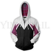 Men and Women Zip Up Hoodies Venom Spiderman 3d Print Hooded Jacket Mravel 4 Movie Superheroes Sweatshirt  Streetwear Costume men zip front mixed print jacket