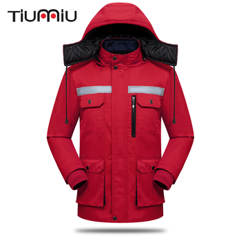 High Quality Wholesale Cotton Coat Unisex Working Clothes Protective Clothing Men Patchwork Engineering Service Winter Warm Coat