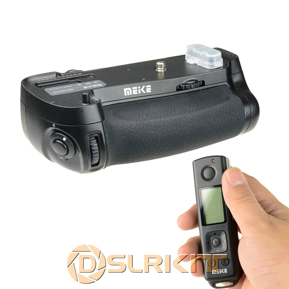 Meike MK-DR750 Built-In Wireless Control Battery Grip for Nikon D750 (as MB-D16) meike mk d500 pro vertical battery grip built in 2 4ghz fsk remote control shooting for nikon d500 camera as mb d17